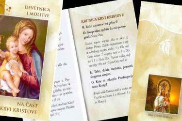 Devetnica i molitve na čast Krvi Kristove